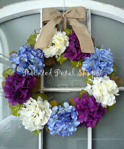 Periwinkle/Plum/Ivory Hydrangea Wreath/Easter/ Wedding Wreath Belleville Belleville Area image 3