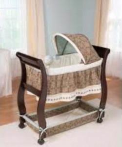 Baby boy sleigh bassinet