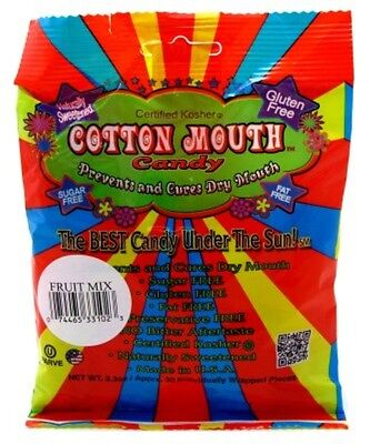 (2 Pack) COTTON MOUTH CANDY FRUIT MIX BAG 3.3 Ounce