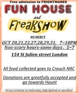 Haunted House and Food drive