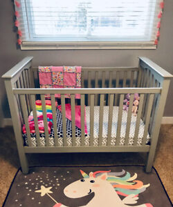 Pottery Barn Grey Kendall Crib FOR SALE