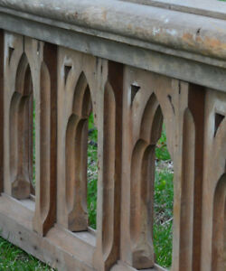 Antique architectural salvage, Gothic railing fence