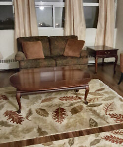 FOR SALE Cherrywood Coffee Table with 2 matching End Tables
