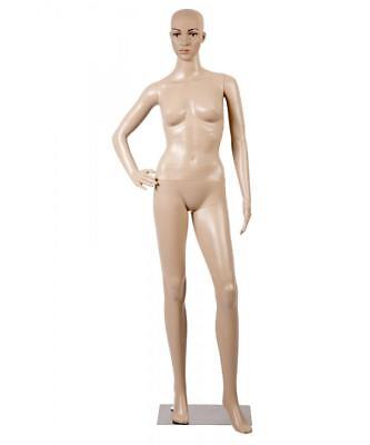 Female Full Body Realistic Mannequin Display Head Turns Dress Form Wbase F61