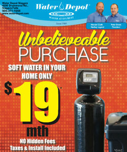 ★★ WATER SOFTENER ★★ $19/mth - Our Best Deal Ever!