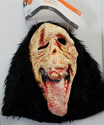 Target Halloween Gorilla Mask Adult Glow in the Dark One Size (Target Halloween Masks)