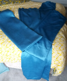 """2 pairs Teal Curtains 46"""" w x 72"""" drop"""