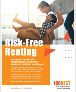 Locnest lease guarantee,  free up your cash!!!
