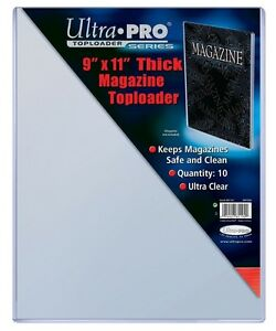 "Ultra Pro THICK top loaders .... for MAGAZINES .... 9"" x 11"""