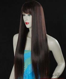 40-BROWN-Silky-Straight-WIGS-HAIR-PERRUQUE-93L-2T33