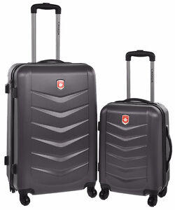 2 Lightweight Hard Side Wheeled Suitcase Large and small
