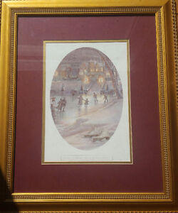 Trisha Romance vignette of 'Evening Skaters' *Awesome gift*