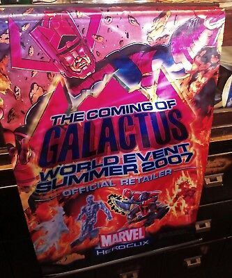 Galactus World Event Summer 2007 Official Retail HeroClix banner silk and Poster for sale  Fort Mill