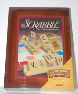 BRAND NEW SCRABBLE Board Game - Vintage Collection Wooden Case