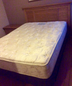 Queen Size Bed, Pillow Top Mattress & 2 Night Tables -St. Thomas