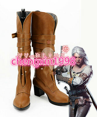 The Witcher 3 Wild Hunt Cirilla Fiona Elen Ciri Halloween COSplay shoes costom V