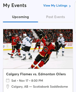 Flames vs Oilers Tickets