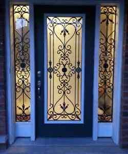 Door glass inserts