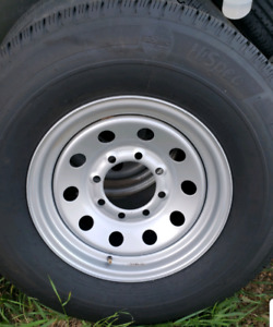 New 235 80 16 trailer tires 8 lug fit 6000lb and 7000lb axles