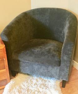 Cozy grey club chair