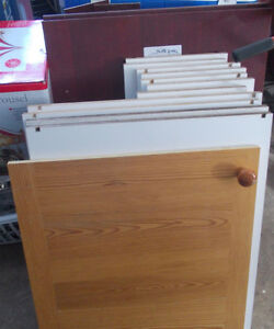 MISCELLANEOUS KITCHEN CUPBOARD DOORS AND SHELVES