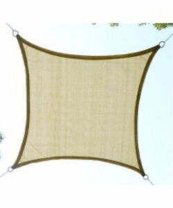 12' Square Sun Shade Sail Canopy / Patio Backyard Sun Shade