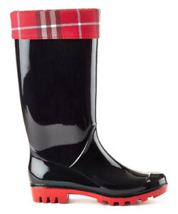 BLACK & RED PLAID INDIANA RAIN BOOT (BY HENRY FERRERA)
