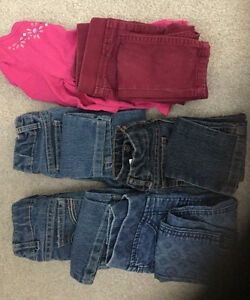 Pantalons / Pants 2T and 3T and one long sleeve shirt