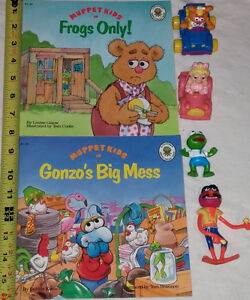 Qty 2 Muppets Books 4 Toys - Miss Piggy, Kermit, Fozzy, Monster