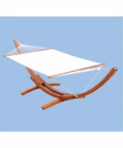 Solid Wood Arc Hammock and Stand / Hammock w/ Stand WHITE