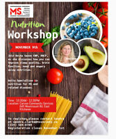 Nutrition Workshop – Improve you quality of life!
