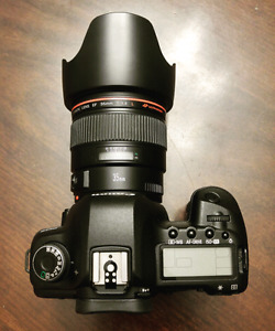 Canon 5d mark 2 with 35mm f1.4 (low shutter count)