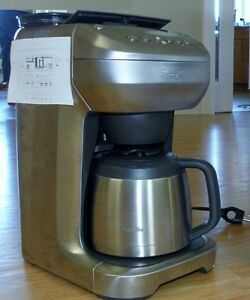 Dual Coffee maker with Bean Grinder