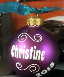 Customized Christmas ornament