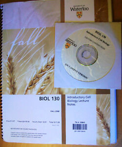 Introductory Biology Lecture Notes and CD - BIOL 130 Cambridge Kitchener Area image 1