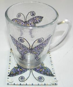 Butterfly Coffee Cup And Coaster Set