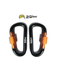 Carabiners (2) Hooks Clip NEW camping hiking cycling Hook