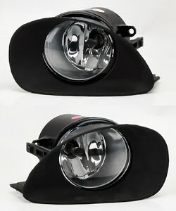 Toyota Yaris 06-08 Hatchback Front Bumper Clear Fog Lights Lamps w/ Switch