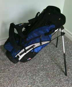 Kids Junior Golf Bag Stand Dual Carrying Straps