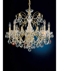 Vintage Schonbek crystal chandelier original tag 3 tier