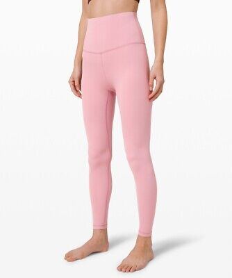 """NWT  align crop lululemon leggings color pink taupe 7/8 25"""" usaw4/ukw8/xs"""