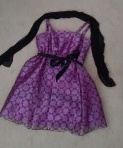 Size 22W Lavender/Black Laura Plus party dress w/scarf