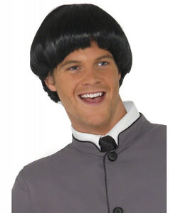 Black 60s Bowl Cut Adult Wig