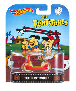 Hot Wheels The Flintstone Flintmobile Retro 1:64 Metal Car