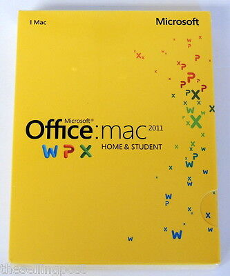 Microsoft Office Mac 2011 Home   Student 1 Mac   Coa Included And New In Box