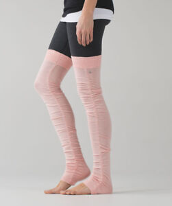 BNWT Lululemon Sheer Bliss Leg Warmers pink
