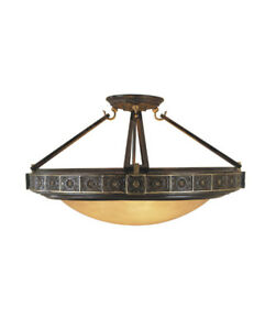 Medallion Semi Flush Mount (Murray Feiss SF184)