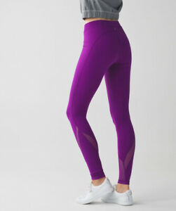 Selling Lululemon Purple Wunder Under Leggings Size 6