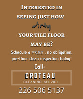 FREE TILE & GROUT PRE CLEAN AND INSPECTION!!