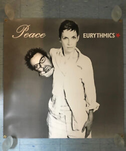 """EURYTHMICS """"Peace"""" Double-Sided Promotional Poster (1999)"""